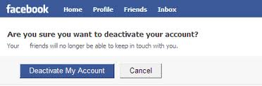 reasons to deactivate your facebook account