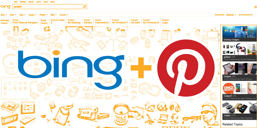 Bing and Pinterest