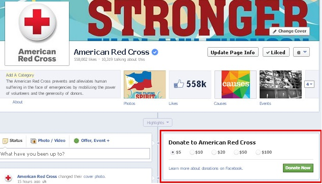 Facebook Donate Button Red Cross