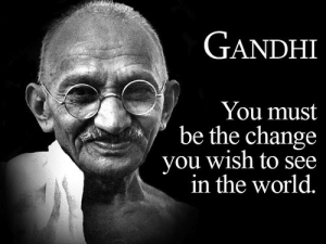 Gandhi Google Doodle Change in the World quote