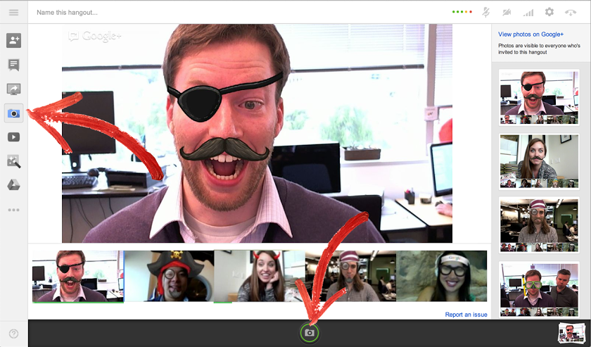 Google Plus Hangouts Feature Effects
