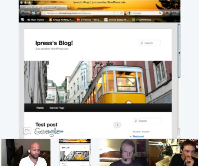 Google Plus Hangouts Feature screen shares