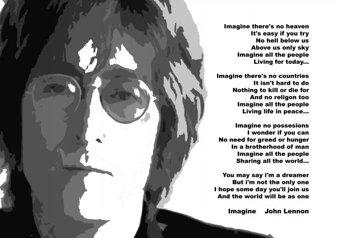 John Lennon Google Doodle Imagine Lyrics