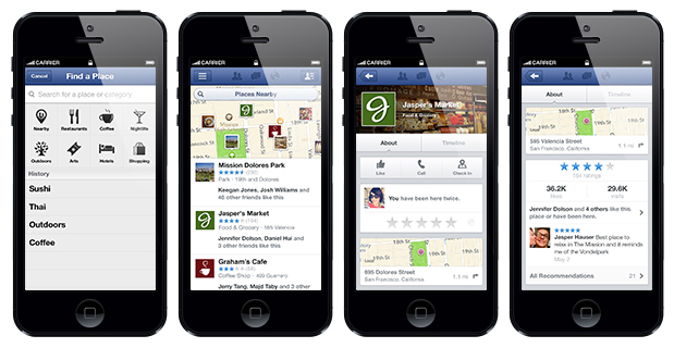 Business Pages Appear in Facebook Local Mobile Search Results