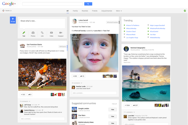 Google Plus Community Redesign
