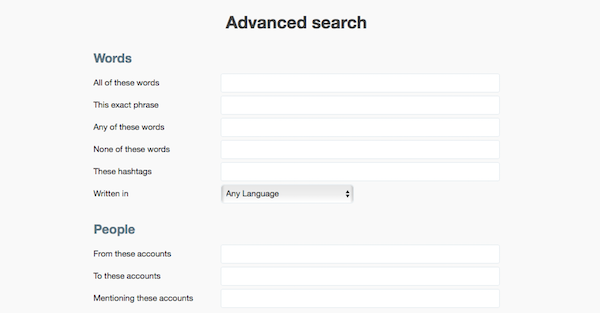 Twitter Advanced Search for Keyword Research